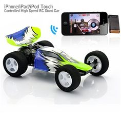 No.3D-15A 2.4GHz Radio Control M-Racer Speed King Stunt Car Racer Controlled by iPhone /iPad /iPod