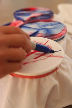 Kara's Creative Place: 4th of July Red white and Blue Patriotic Sharpie Tie Dye T-Shirts