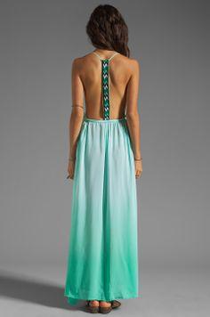 WOODLEIGH Veve Maxi Dress in Seafoam