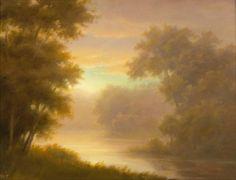Jane Bloodgood-Abrams - Last Light- Bend in the Creek