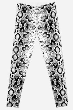 Super stretchy and durable polyester full-length leggings. Vibrant high-quality sublimation print across the front and back. Seamless pattern black isolated on white background. Gothic Leggings, 3d Laser, Print And Cut, Textures Patterns, Snake Skin, Clothes For Women, Trending Outfits, Ornament, Laser Machine