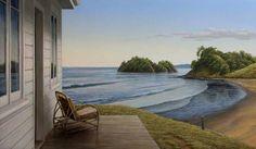 Neil Driver Evenign East Coast Northland Parnell Gallery New Zealand Oil Painting Landscape Bay Of Islands, New Zealand Art, Nz Art, Maori Art, Landscape Paintings, Art Paintings, Asian Art, East Coast, Art Pictures