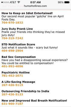 Best Phone Numbers To Prank Call : phone, numbers, prank, Jennifer, (jhuff515), Profile, Pinterest