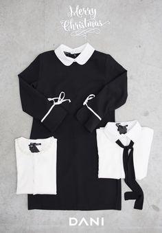 #DANI WhiteCollar  http://www.danishop.it/featured/camicia-dettaglio-cravatta.html  #bonton #black #dress #camiciabianca