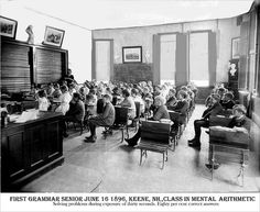 Keene Grammar School Class, Keene New Hampshire by Keene and Cheshire County (NH) Historical Photos, via Flickr