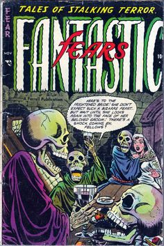 Comic Book Cover For Fantastic Fears #4  -   Date: Nov 1953
