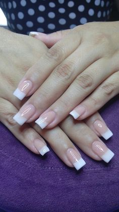 Discover latest Nail Fashion trends, Nails polish inspration, style and other ideas to try. Get updated with all nail design news and latest articles including celebrities, fashion, hot trends and much more! Square Acrylic Nails, French Acrylic Nails, French Manicure Nails, Cute Acrylic Nails, French Tip Nails, Acrylic Nail Designs, Nail Art Designs, Gel Nails, Latest Nail Designs