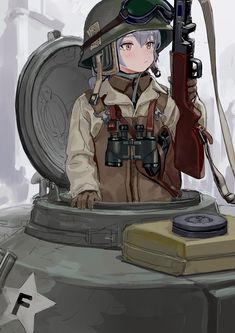 Tap to see the meme Anime Military, Military Girl, Anime Art Girl, Manga Girl, Character Inspiration, Character Art, Ww Girl, Guerra Anime, Anime Weapons
