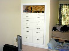 Images Of Built In Dressers Custom Made Knee Wall