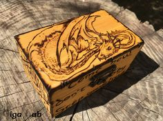 Smaug Box  The Hobbit di GigaLabWoodCreations su Etsy
