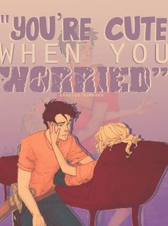 Percy and Annabeth, The Last Olympian.    look at how sad the background is. :(