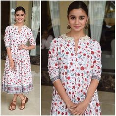 How cute does @aliaabhatt look in this floral @patineofficial number 🌸✨ (📸 @bollywoodjammer)