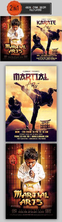 Martial Arts Flyer Bundle #karate #modern • Download here → https://graphicriver.net/item/martial-arts-flyer-bundle/19257937?ref=pxcr