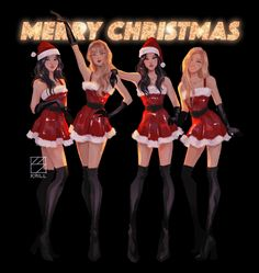 christmas blackpink 2018 - mean girls illustration