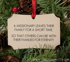 Missionary Christmas Ornament Personalized by CelesteComm - All proceeds from…