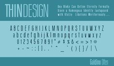 Thin typeface with high horizon. Interesting S.