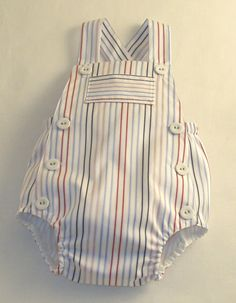 I like this one as well for future grandbaby boy :) Seaside Striped Sunsuit by patriciasmithdesigns on Etsylittle me baby dress baby Sewing Patterns For Kids, Sewing For Kids, Baby Sewing, Baby Boy Outfits, Kids Outfits, Couture Bb, Baby Boy Dress, Romper Pattern, Kids Wear