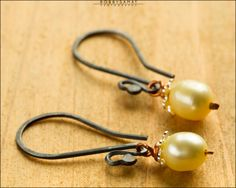 Sterling Silver Freshwater Pearl Earrings - Jewelry by Jason Stroud.