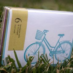 Ladybug Press: 6 pack of Bike Cards, Assorted bikes and colors #AnyOccasion
