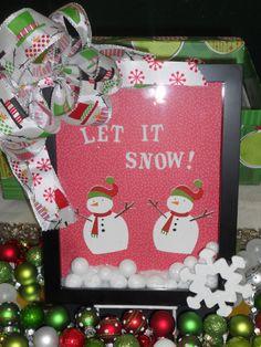 Christmas Shadow Box  Snowman Shadow Box by rosiepinkdesigns, $20.00