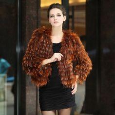 Natural Fox Fur Fancy short coat