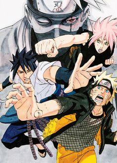 Hatake Kakashi Haruno Sakura Uchiha Sasuke Uzumaki Naruto Team 7 NarutoShippuden #fanart