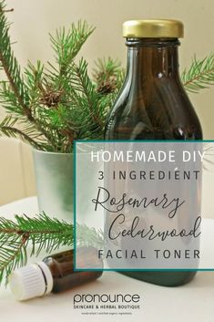 3 Ingredient DIY Rosemary Cedarwood Facial Toner • Pronounce Skincare & Herbal Boutique