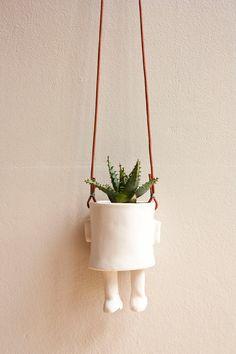 Ceramic pot  Hanging by wacamoleceramic on Etsy