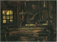 Tejedor, visto de frente  Vincent van Gogh Pinturas, Óleo sobre tela sobre hoja Nuenen: julio, 1884 Museo de Boymans van Beuningen Rotterdam, Los Países Bajos, Europa F: 27, JH: 503