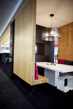 Overbury worked with Reckitt Benckiser to fit out their Slough office. Barcode Design, Lampshade Designs, Meeting Rooms, Office Makeover, Wood Walls, Display Screen, Pickles, Connect