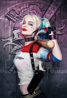 Sexy Harley Quinn costumes were the most popular fancy dress this year as thousands copied 'Daddy's Little Monster' Harley Quinn Tattoo, Joker Y Harley Quinn, Harley Quinn Drawing, Margot Robbie Harley Quinn, Harley Quinn Cosplay, Harley Quinn Fancy Dress, Harley Quenn, Joker Cosplay Costume, Daddys Little Monster