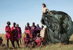 Parachute. Keira Knightly Vogue 2007