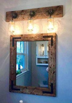 22 Vintage Industrial Mirror Design Ideas For Your Bathroom