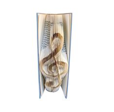 TREBLE CLEF Pattern Book folding Musician gift Violin key Book Folding Patterns, Pattern Books, Sewing Patterns, All You Need Is, Origami, Sharp Pencils, Musician Gifts, Folded Book Art, Treble Clef
