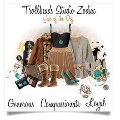 """Trollbeads Zodiac- Year of the Dog"" by trollbeadsstudio on Polyvore"