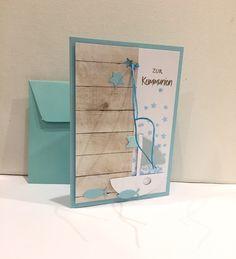 Glückwunschkarten - Kommunionkarte  SCHIFF & HOLZ - ein Designerstück von POMMPLA bei DaWanda