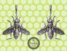 Купить Серьги Пчелки Серебристые в интернет магазине на Ярмарке Мастеров
