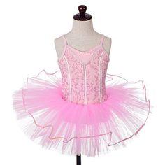 4b1c0d8a7906 Dressy Daisy Girls' Embroideries Sequins Ballet Tutu Dancewear Fairy Costume  Leotard Size 3T-4T Pink