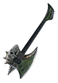 For G's Halloween Costume - Axe Blade Bass Guitar