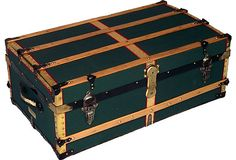 $1059Antique Green Canvas Cabin Trunk on OneKingsLane.com