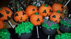 Halloween cake pops. Jacko lantern cake pop