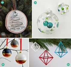 Roundup: 24 Modern and Easy DIY Christmas Ornaments