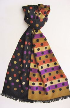 100% brushed silk scarf by Chelsey