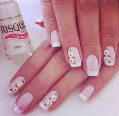 Nails french pink flower designs 44 new ideas Cute Nails, Pretty Nails, My Nails, Spring Nail Art, Spring Nails, French Nails, Pretty Nail Designs, Nail Art Designs, Fingernail Designs