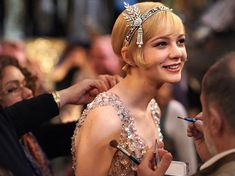 carey mulligan on the set of the great gatsby