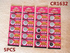 5pcs CR1632 Button Cell Battery Coin Lithium Battery 3V Watches Toy Calculator