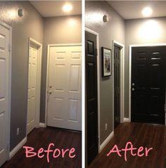 Black doors for your hallway? //harmonious.wordpress