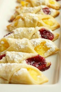 Kolachy Cookies are a traditional Eastern European cookie made with a light and fluffy cream cheese dough and then stuffed with fruit or preserves!