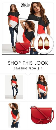 """""""Color Block Blouse"""" by tweety62 ❤ liked on Polyvore featuring KC Jagger"""