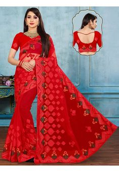 Wedding Sarees Online, Saree Wedding, Net Saree, Scarlet, Bridal, Red, Collection, Scarlet Witch, Bride